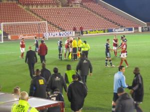 Handshakes at full time