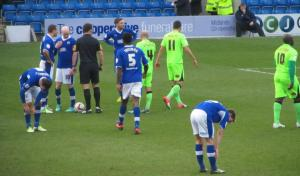 Chesterfield are given a free kick