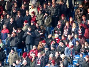 Some of the travelling Cobblers fans