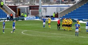 The Spireites win a second free kick almost immediately