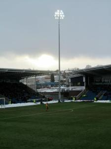 The floodlights shine over the Proact Stadium