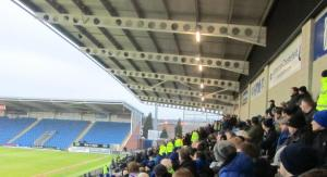 Looking towards the away supporters in the East Stand