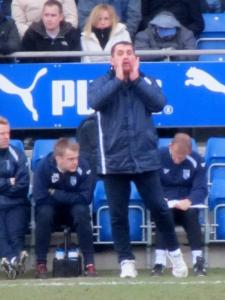 Gillingham manager Martin Allen on the touchline