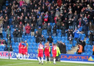 Cody McDonald puts Gillingham ahead on the 50th minute