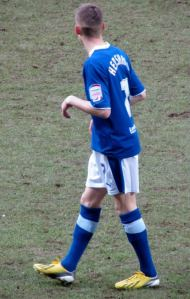 Alex Henshall makes his Chesterfield debut after joining on loan from Manchester City