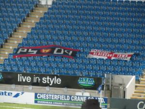 Flags on the away stand