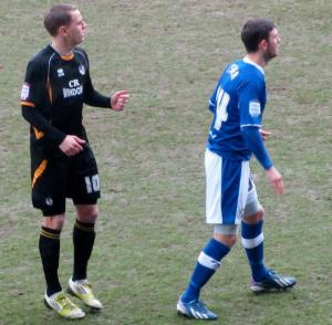 Eliot Richards keeps a close eye on Jay O'Shea