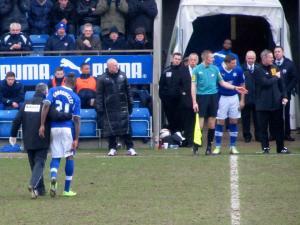 Marc Richards replaces the second goalscorer
