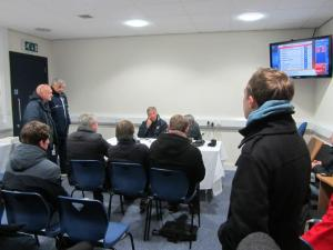 Watching Rovers boss John Ward's post match interview in the press room