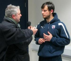 Chesterfield goalkeeper speaks to Radio Sheffield's Paul Fisher