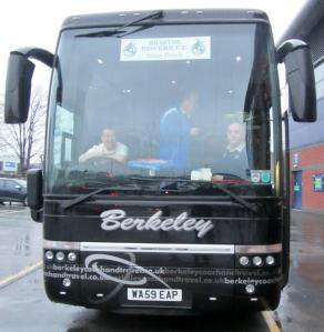 The Bristol Rovers team coach
