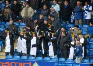 Some of the Rovers fans came dressed as penguins!