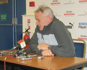 Dave Jones faces the press