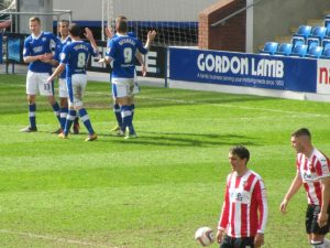 Lester bags his second and the Spireites' fourth of the game