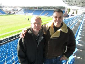 Commentator Steve and cameraman Andy