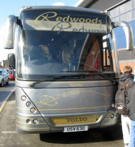 The Exeter team coach