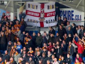 Another flag on theaway end