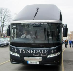 The Bradford City team coach