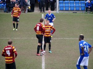Bradford get the second half underway