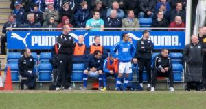 Jack Lester waits to be brought on