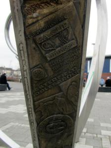 A carving commemorating Chesterfield's FA Cup Semi Final, which took place 16 years ago today