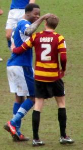 Neal Trotman and Stephen Darby after the game