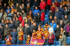 Some of the away fans