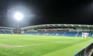 The Chesterfield fans have all gone home after witnessing a defeat that leaves the play offs unlikely