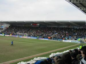 A packed away end on Bank Holiday Monday