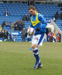 Jay O'Shea warms up