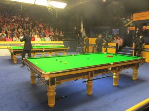 My Dad's view for the Saturday morning session between Ricky Walden and Michael Holt