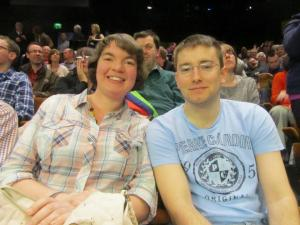 Snooker fans Kellie and Dan