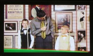 A clip of John Parrott interviewing a 9 year old Michael White and 11 year old Judd Trump!