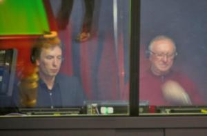 Commentators and former World Champions, Ken Doherty and Dennis Taylor