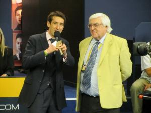 MC Rob Walker chats to Clive Everton