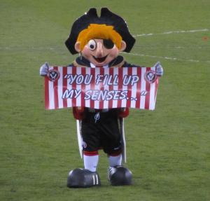 The Sheffield United mascot