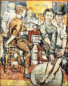 Sutcliffe's painting of the pub