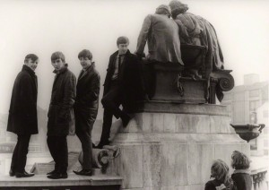 The group pose here during a photo shoot in Liverpool