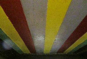 Paul McCartney's rainbow ceiling