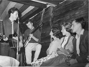 An image of the Quarrymen performing at the Casbah