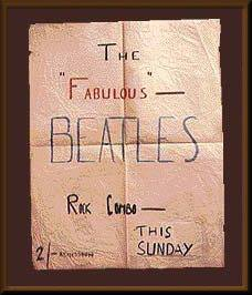 An original poster for the Beatles at the Casbah