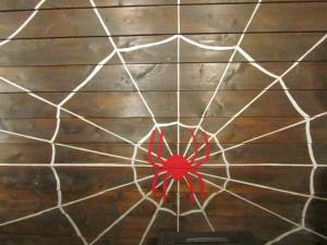The spider painted on the wall