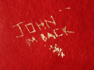 John carved his name on the wall for a second time after a performance on the stage in the spider room!