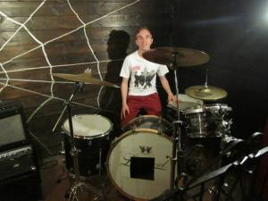 On drums!