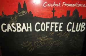 Another painting, signed by visitors of the club