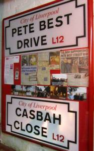 Pete Best and the Casbah have both been recognised with street names in Liverpool