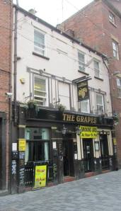 The outside of The Grapes