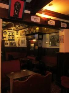 Beatles memorabilia is all over the pub