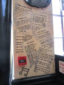 Song lyrics on the wall