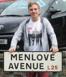 A road sign for the street John Lennon grew up on